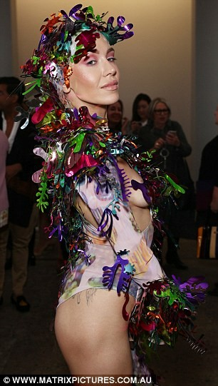 See the crazy and risky outfit Imogen Anthony wore to the Mercedes-Benz Australian Fashion Week ?(Photos)