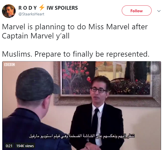Marvel is bringing its first Muslim superhero called Miss Marvel to the big screen and people are pleased