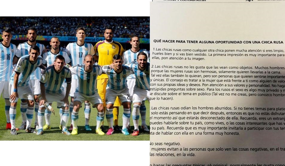 Argentina FA gives players tips on how to have