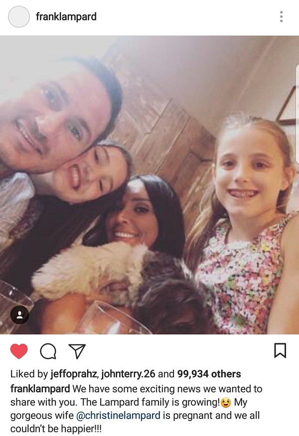 Chelsea legend Frank Lampard and wife Christine expecting their first child together