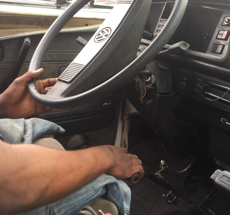 Disabled driver with no legs spotted driving a danfo