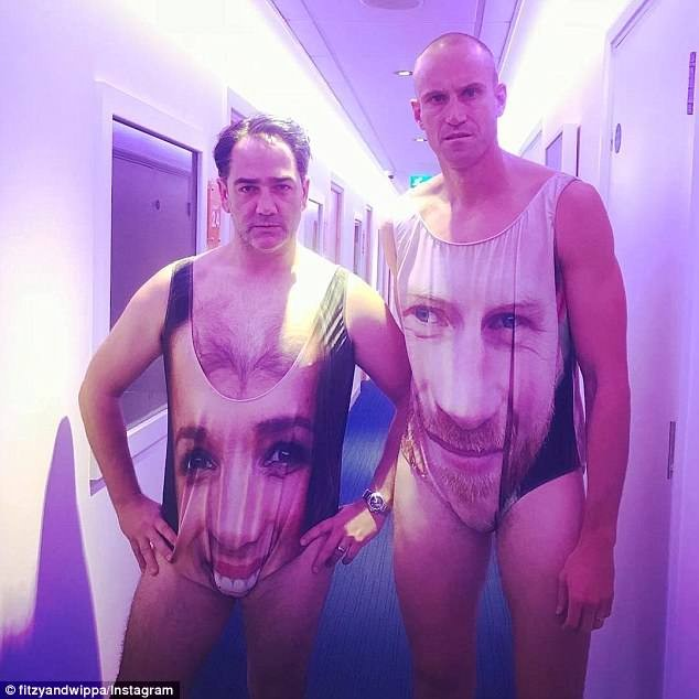Radio hosts Fitzy & Wippa rock skimpy Harry and Meghan-inspired swimsuits ahead of their wedding (Photos)
