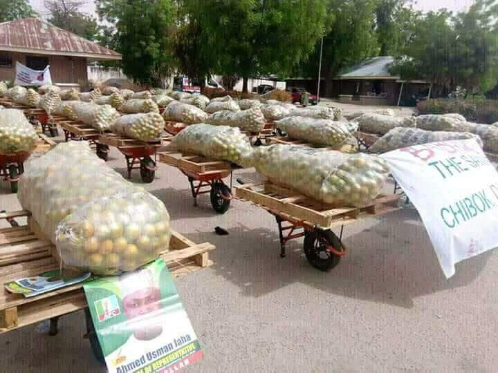 Borno state government official defends his decision to empower youths with Shoe shinning kits, bags of oranges
