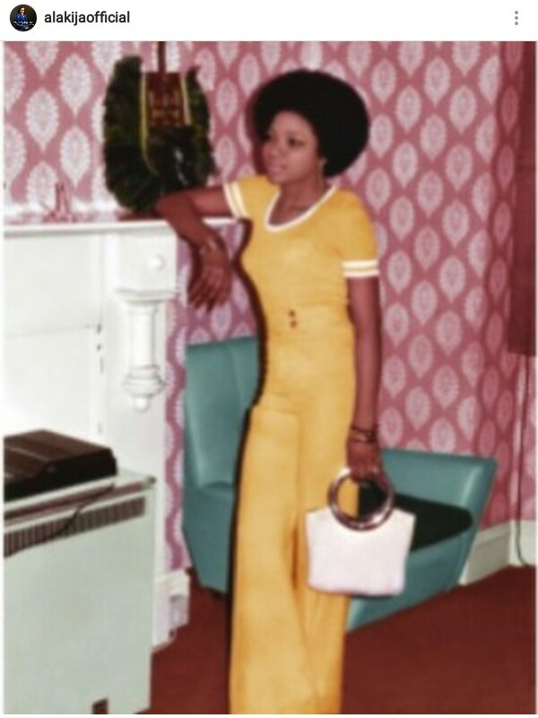 Lovely photo of billionaire businesswoman Folorunso Alakija as a young woman