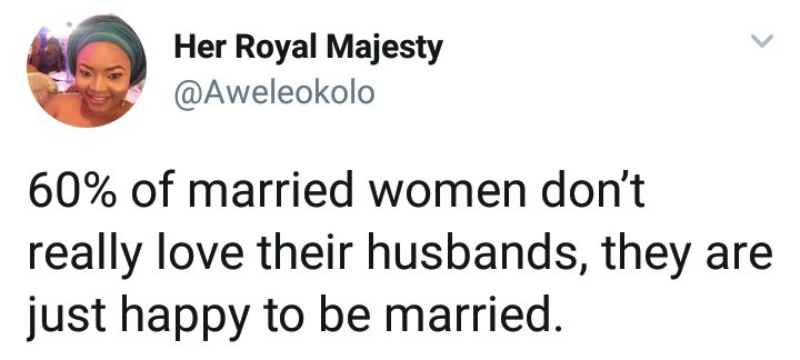 60% of married women don