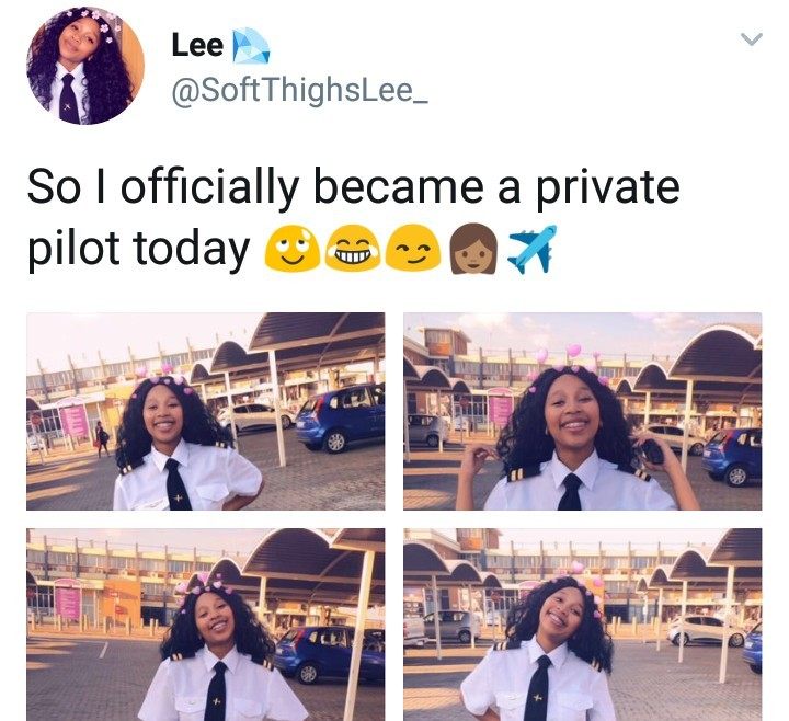 This pretty black lady just qualified as a professional pilot