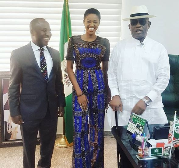 Photo: BBNaija housemate, Ahneeka meets Bayelsa State deputy governor,?John Jonah