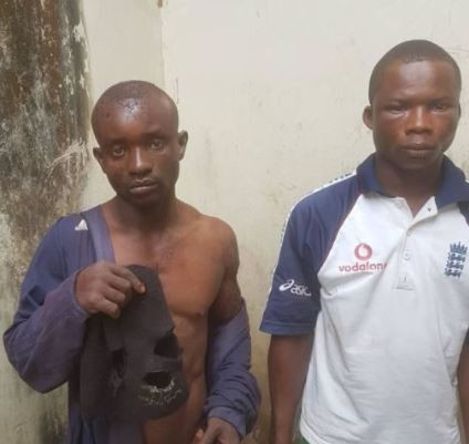 Photos: 2 men arrested for slaughtering their neighbour in Ogun State