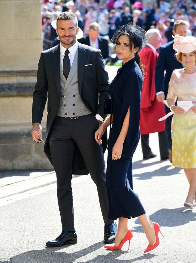 Victoria & David Beckham At Prince Harry and Meghan Markle's wedding - Image ~ Naijabang