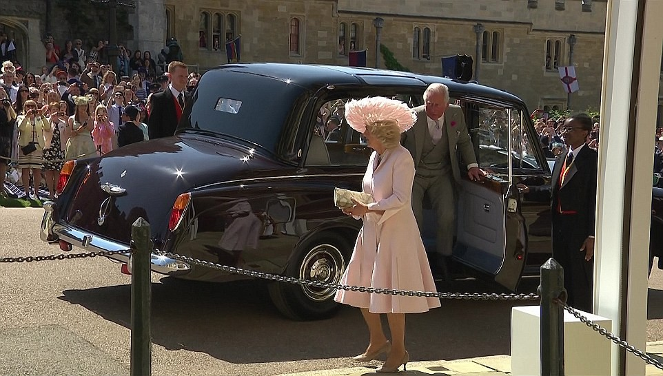 Queen Elizabeth, Prince Phillip, and other Royals arrive St. George Chapel for Meghan Markle and Prince Harry