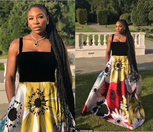 Serena Williams rocks floral Valentino gown to the royal wedding reception (Photos)