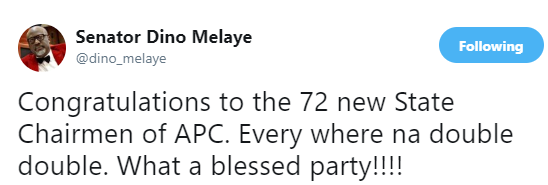 Dino Melaye mocks APC following parallel state congresses