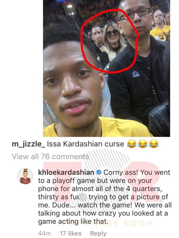 Khloe Kardashian slams troll who think a pic of her at a basketball game and titled it
