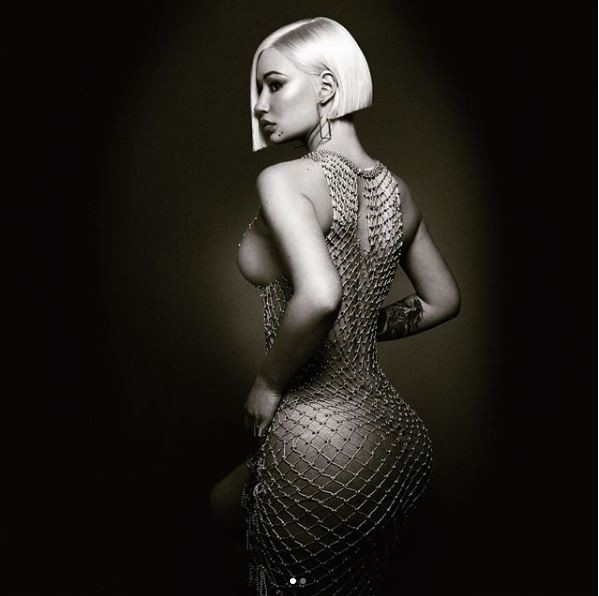 5b014ee0462ff - Iggy Azalea shares more nude photos of herself wearing only a beaded mesh dress