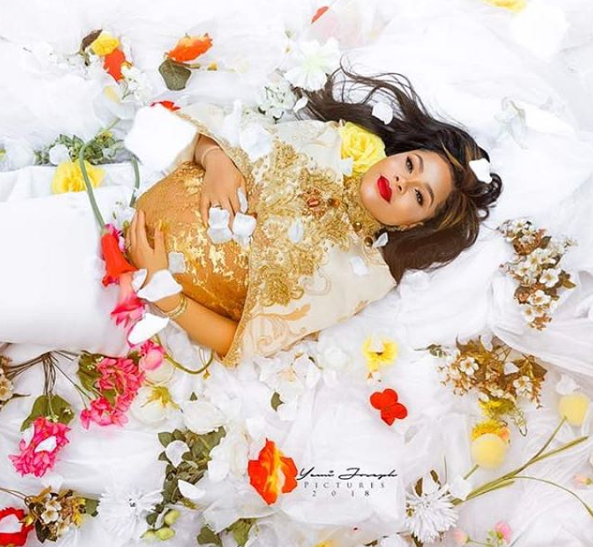 FFK and his wife Precious are expecting a set of triplets, see her stunning maternity photos