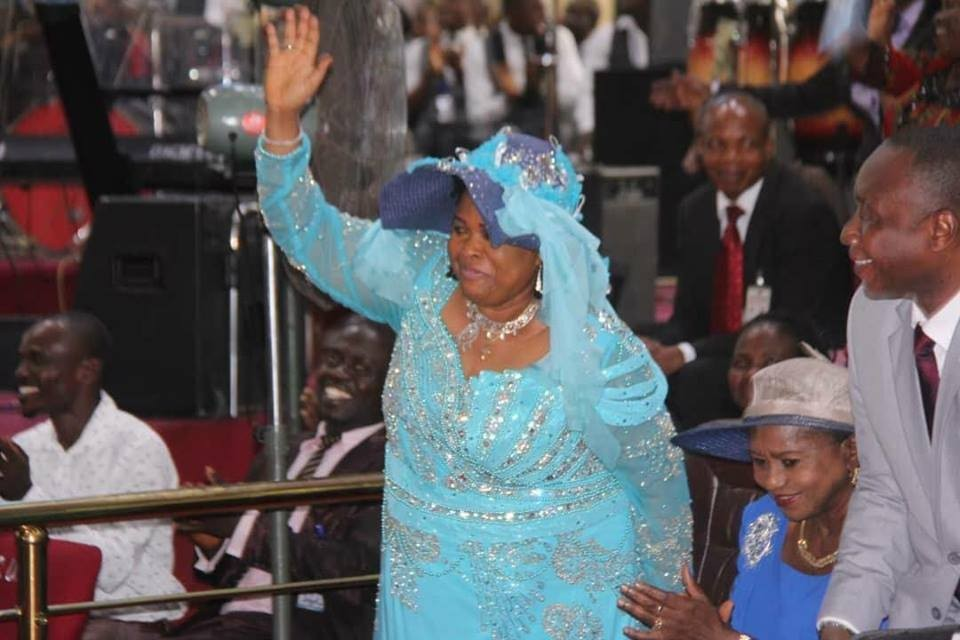 Photos of Former first lady, Patience Jonathan at the Rivers state government thanksgiving service