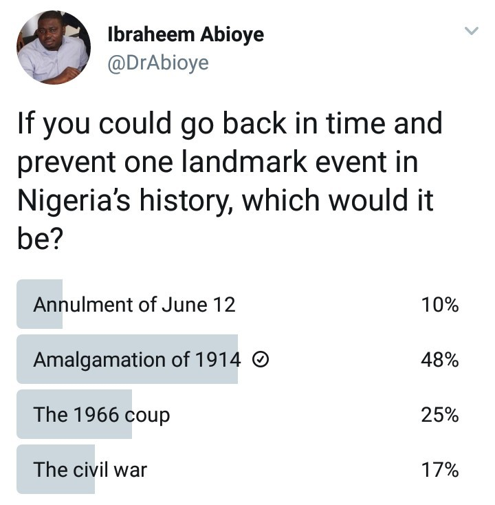 If you could prevent one event in Nigeria