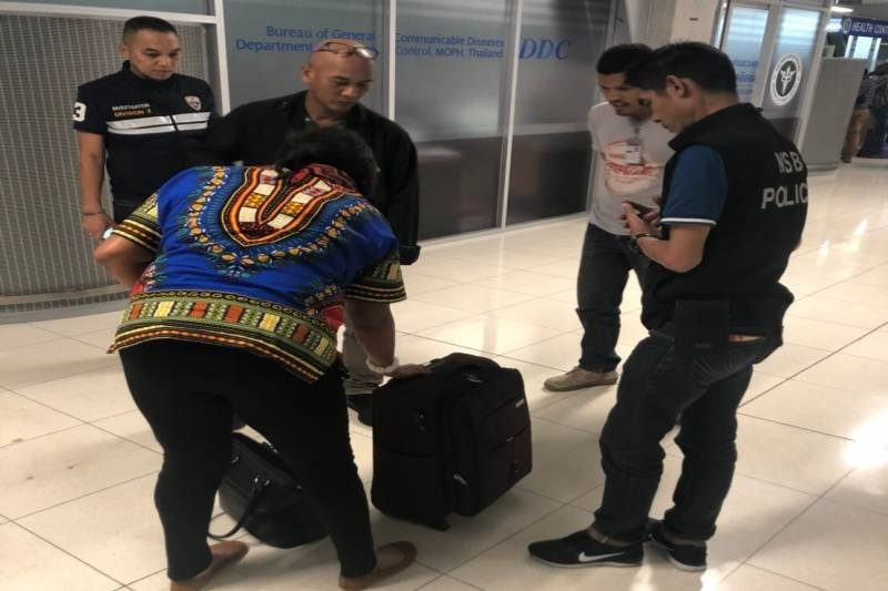 African woman nabbed at Bangkok airport with 1.16 kilos of heroin in her stomach
