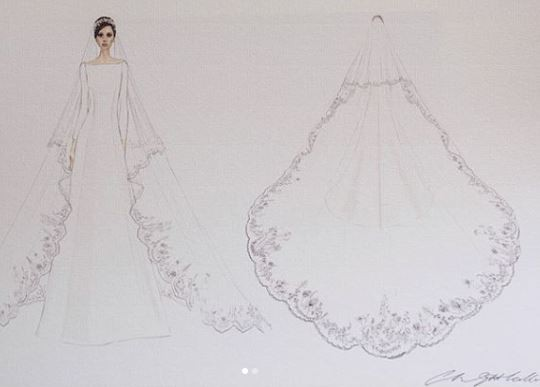 These are the official sketches of Meghan Markle