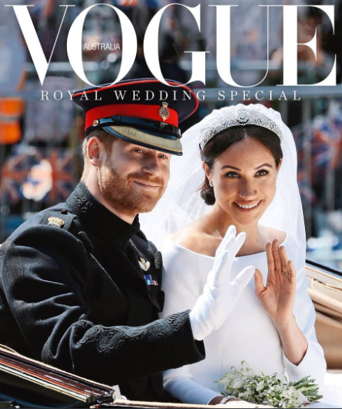 The Duke and Duchess of Sussex cover the special edition of Vogue Australia royal wedding special