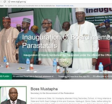 Secretary to the Government of the Federation, Boss Mustapha, unveils his official website designed at N64 million