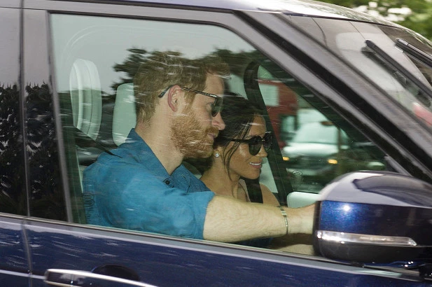 Prince Harry and Meghan Markle spotted for first time since wedding