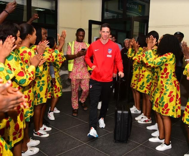 Photo: Spanish footballer, Fernando Torres arrives Nigeria
