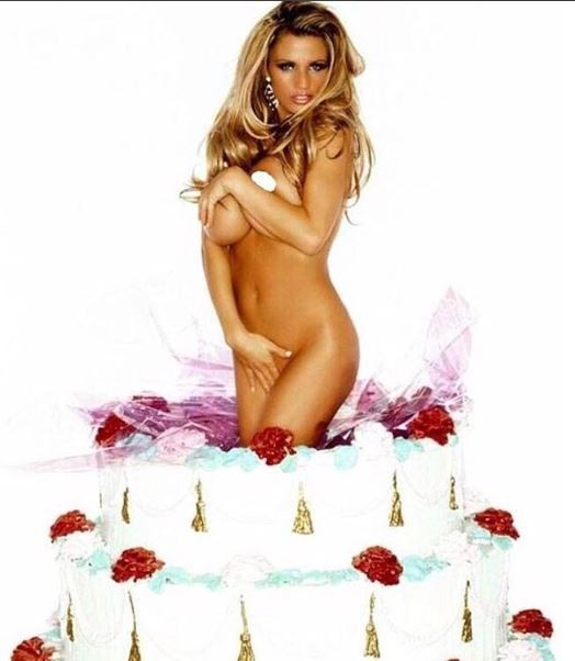 Oh dear! Katie Price goes completely naked in a giant cake to celebrates 40th birthday 18+