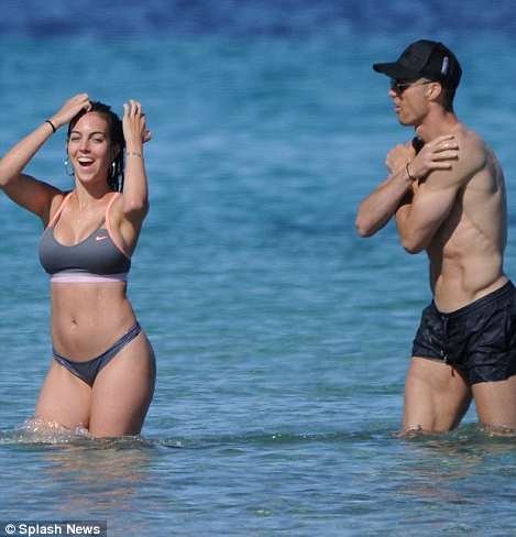 Cristiano Ronaldo and girlfriend Georgina Rodriguez display their perfect bodies as they holiday in Ibiza
