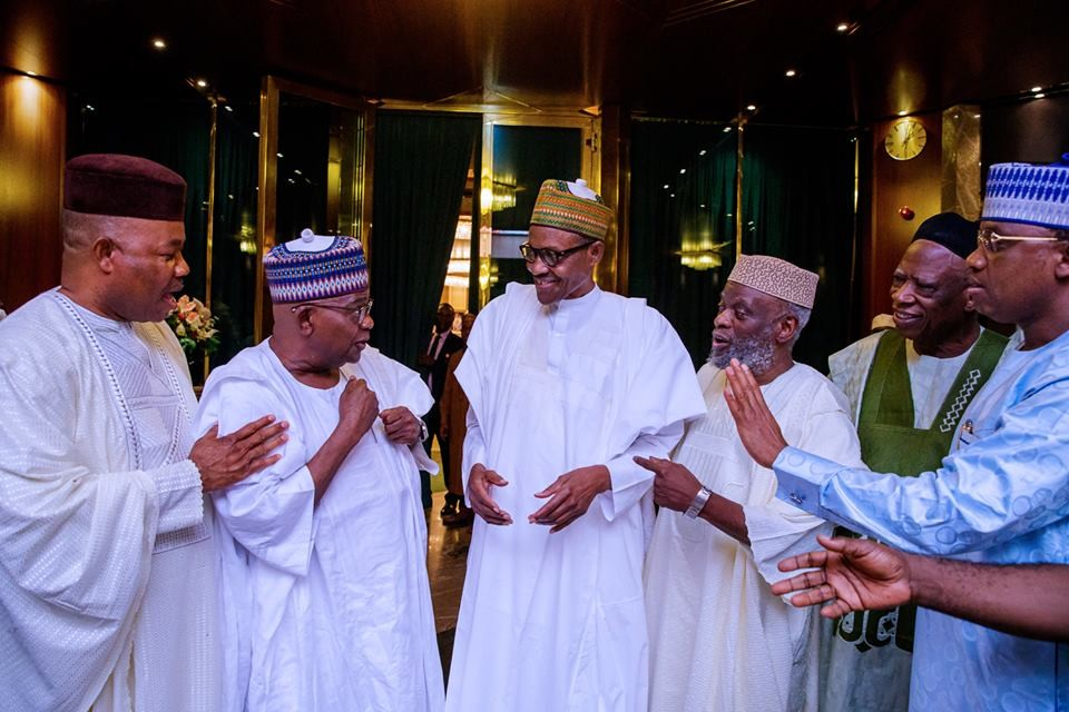 Saraki vs IGP: Photos from President Buhari