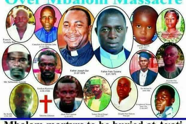 Photos: Facebook user claims that something happened as Catholic priests and 17 Parishioners were buried in Benue today
