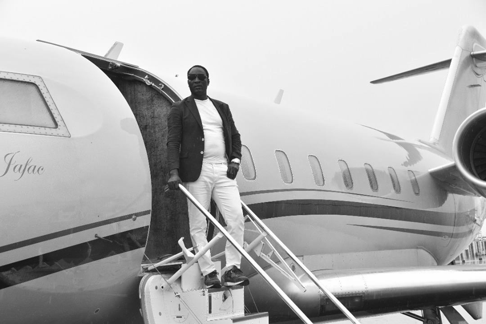 Warri-based clergyman, Prophet Jeremiah Fufeyin, strikes a pose with his newly acquired private jet