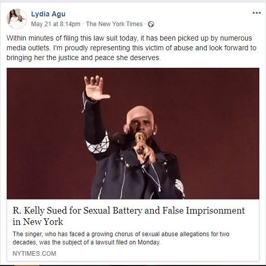 R. Kelly accused of sexual battery, false Imprisonment & Transmitting Sexual Disease in new lawsuit filed in by a Nigerian Entertainment lawyer