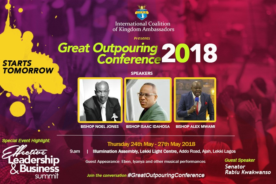 Founder of Illumination Assembly, Bishop Isaac Idahosa  to host four-day power packed programme  in Lekki
