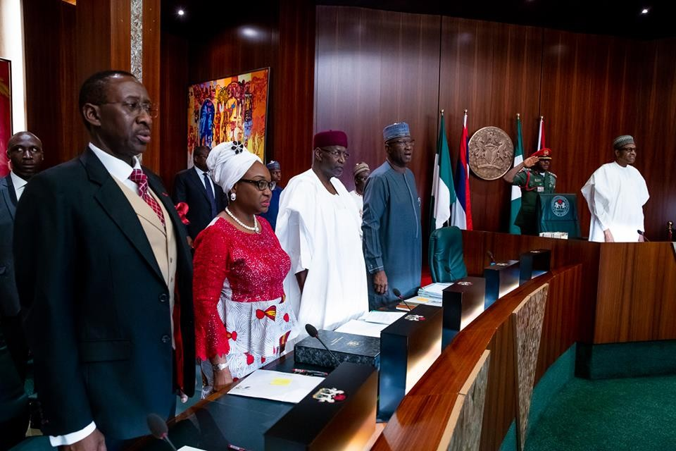 President Buhari presides over the Federal Executive Council meeting (photos)