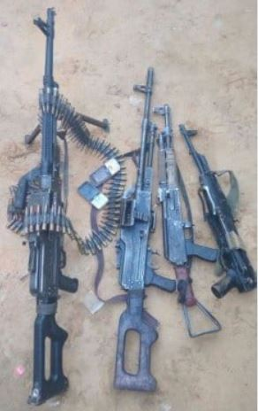 FG displays?gun, ammunition and other Items recovered from Sambo Dasuki?s Abuja residence In court (photos)