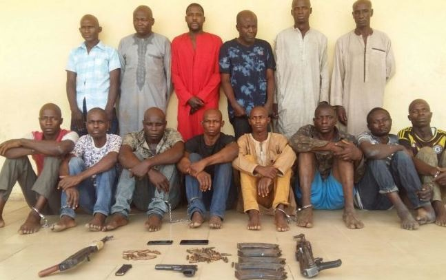 Photo:?Police parade killers of Nasarawa State University lecturer
