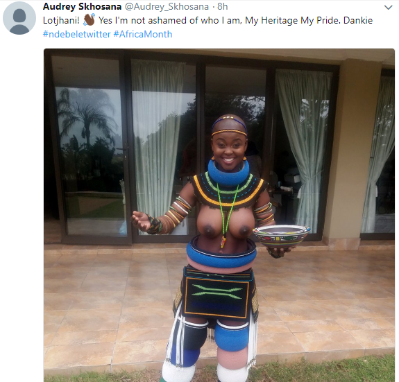 """South African woman defiantly exposes her breasts after she was blocked by Twitter for going topless, says """"I"""