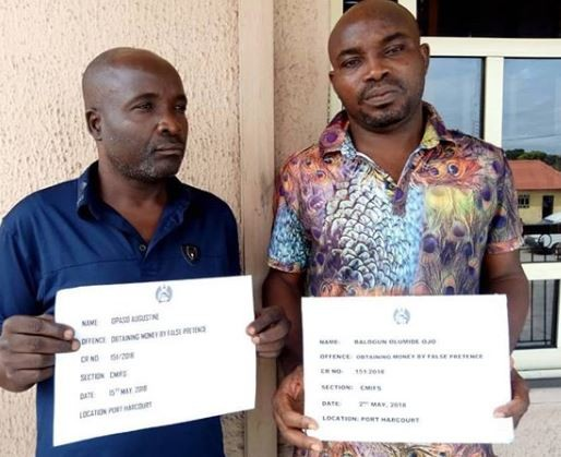 Photo: Two fraudsters arrested for N31m scam