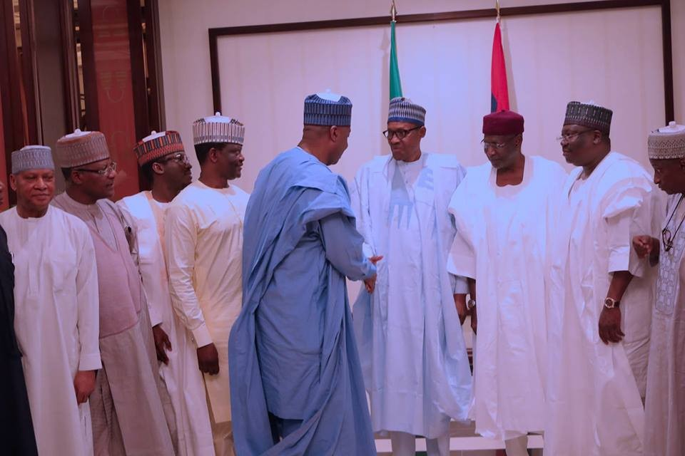 Photos: President Buhari breaks Ramadan fast with National Assembly leaders
