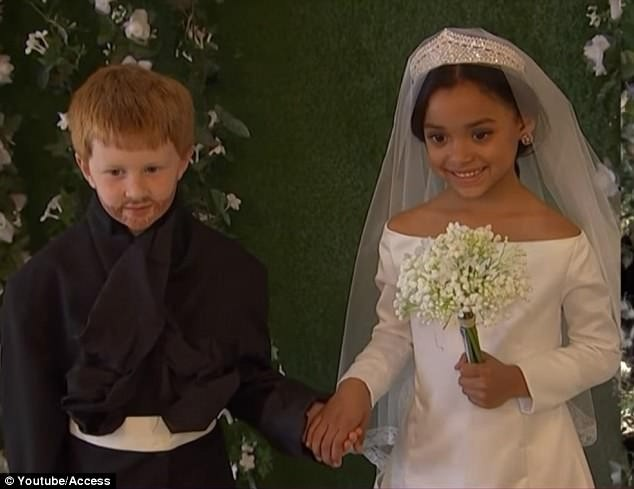 Adorable kids recreate Meghan Markle and Prince Harry