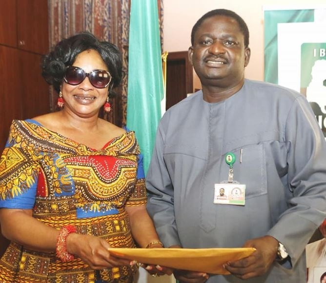Photo:?Nollywood?actress, Clarion Chukwurah pays a courtesy visit to President Buhari