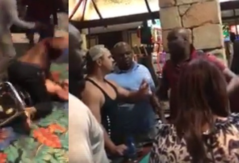 Choi! Nigerian man in South African gives a bully the beating of his life (video)