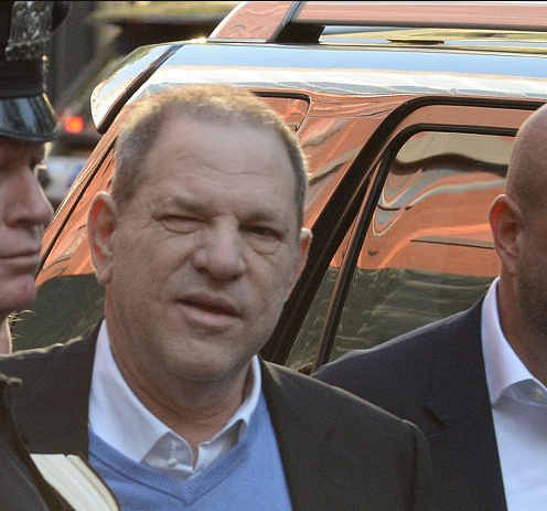 "Harvey Weinstein smirks at the crowd as he very publicly turns himself into police on multiple rape charges for ""sexually assaulting two women in NYC"""
