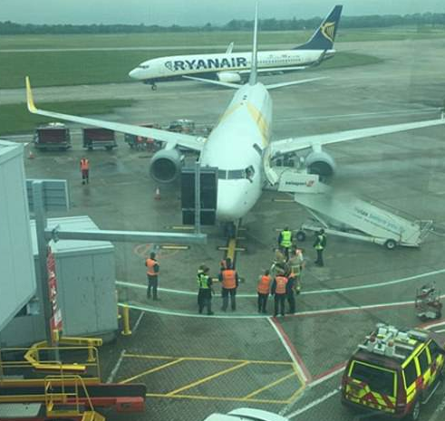Ryanair flight carrying dozens of Irish voters home for abortion referendum is hit by another plane