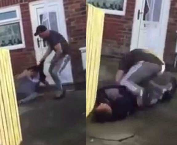 Man gives suspected burglar the beating of his life after catching him red-handed outside a home