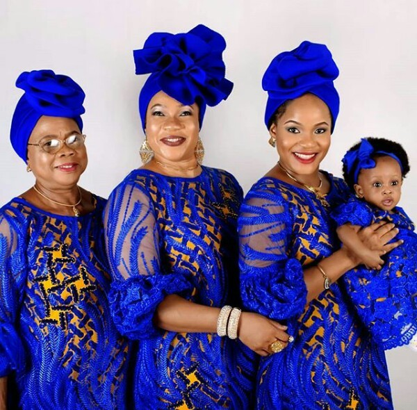 Beautiful four generations photo of a Nigerian family