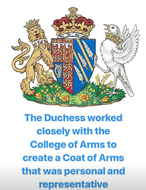 Meghan Markle now has her own Coat of Arms created for her by the royal family