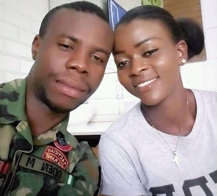 """Thank you for not letting me to become a widow"" Lady expresses gratitude to God as her husband returns home after 4 years fighting Boko Haram in Maiduguri"