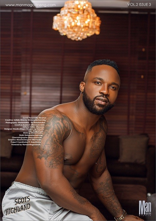 Singer, Iyanya, smoking hot on the new cover of Man magazine!(photos)